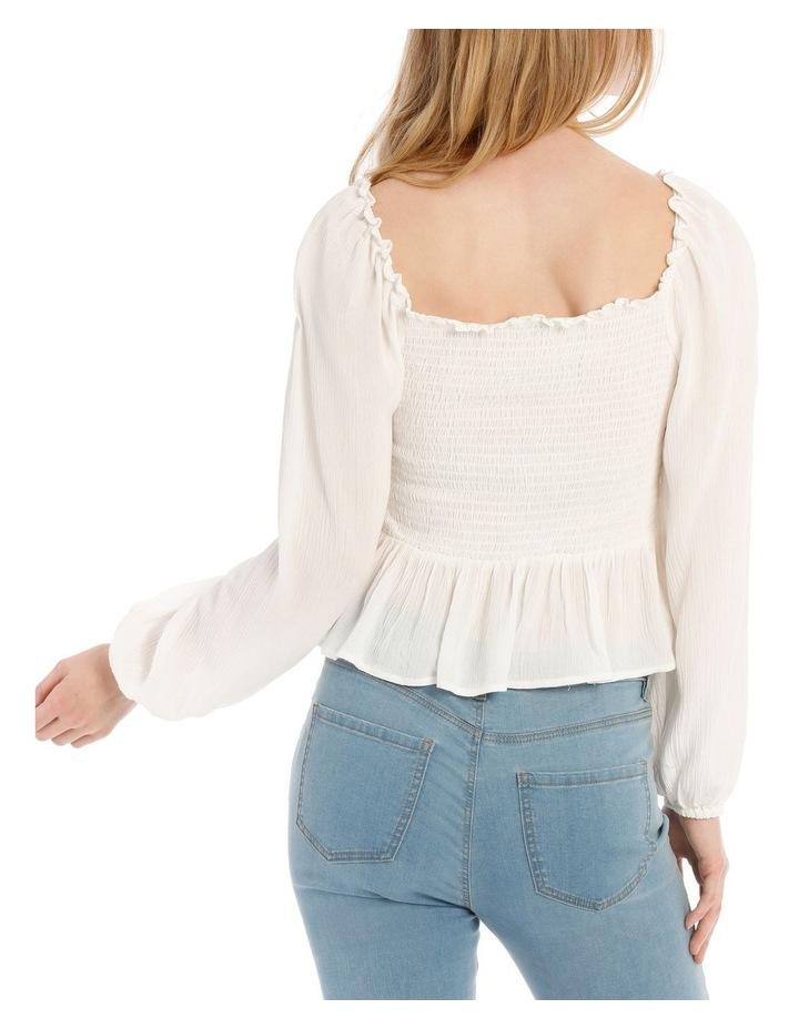 Shirred Bodice Long Sleeve Top image 3