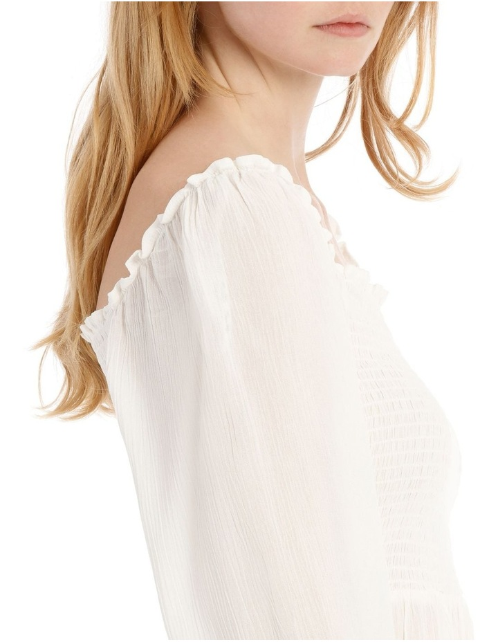 Shirred Bodice Long Sleeve Top image 4