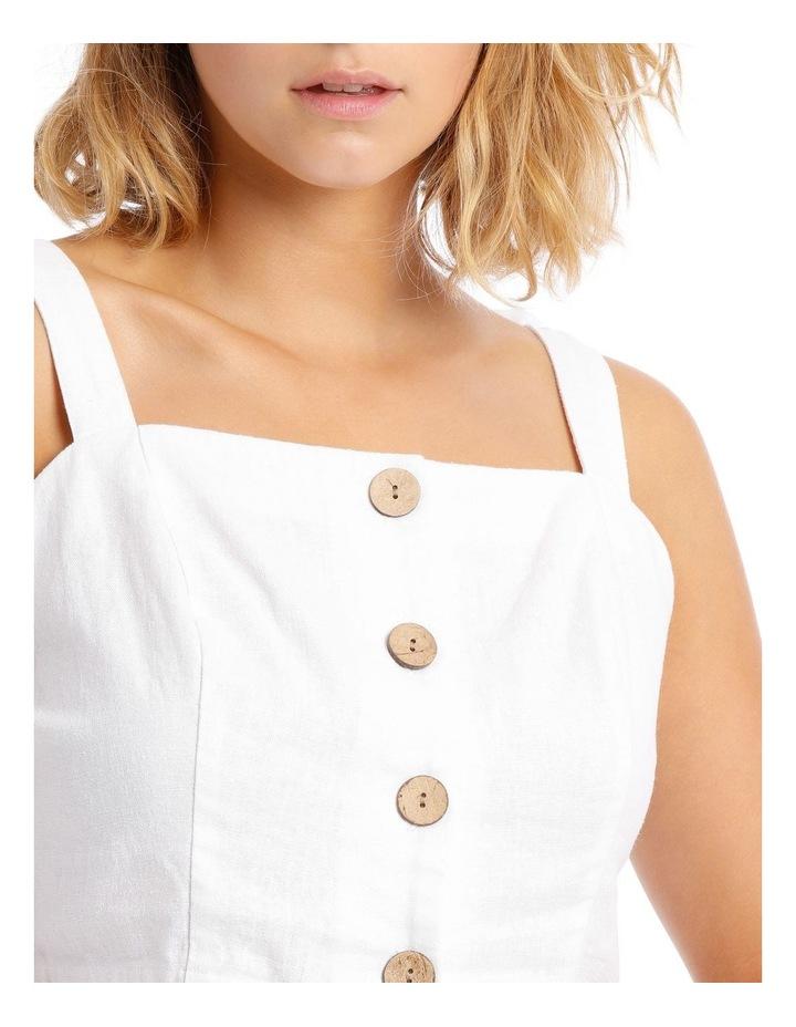 Linen Blend Tie Shoulder Cami image 4