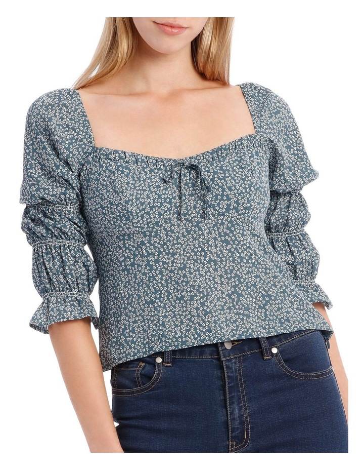 Petrol Packed Floral Sweetheart Top image 4