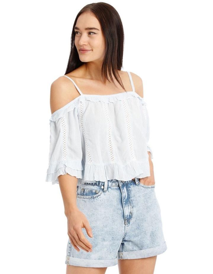 Cold Shoulder Lace Insert Top image 1