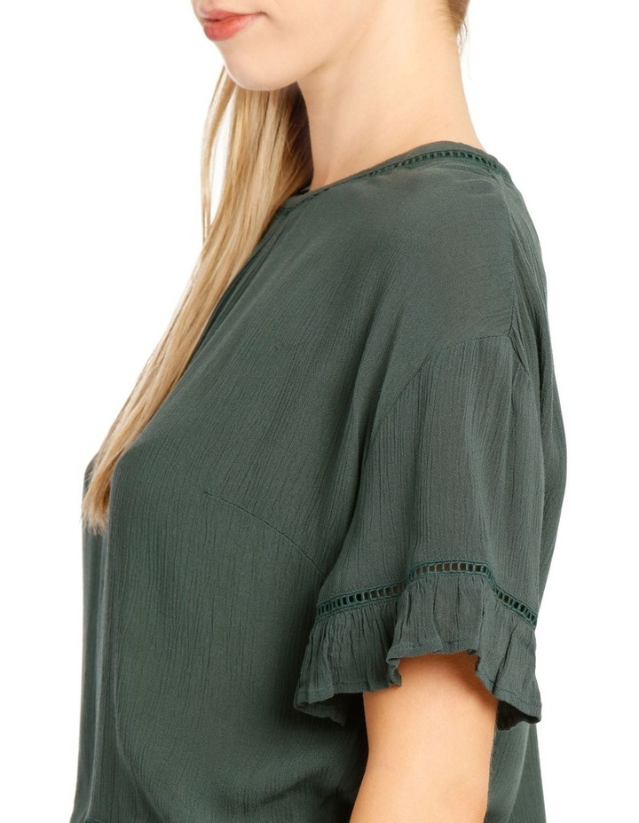 Ladder Trim Flounce Sleeve Boxy Top image 4