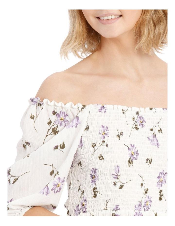 Shirred Bodice Puffy Sleeve Top image 4