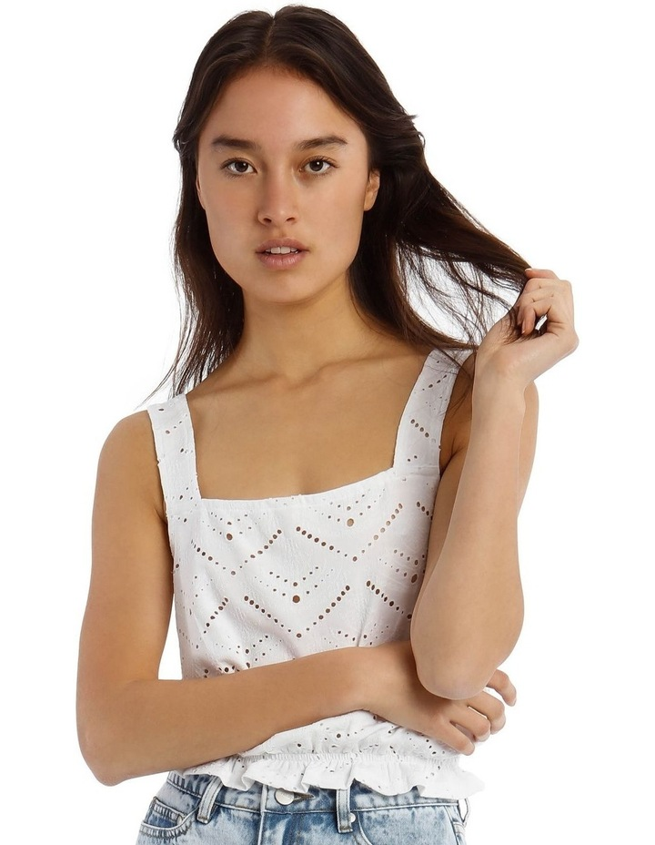 Jersey Broderie Tank Top image 1