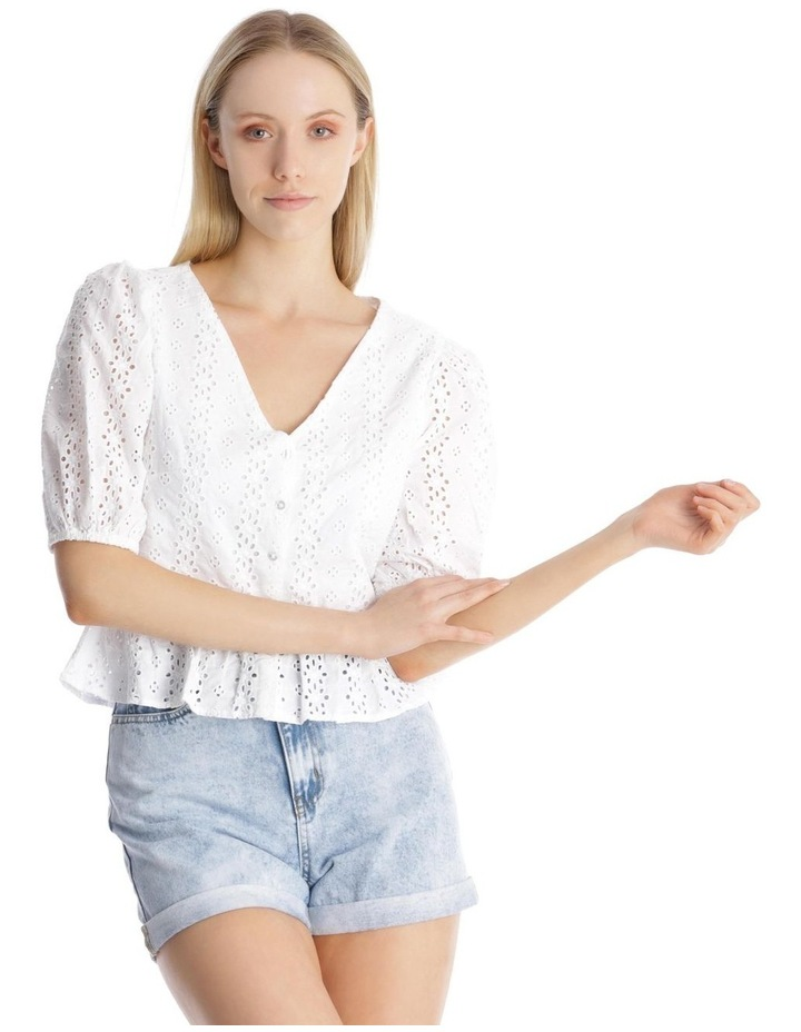 Broderie Puffy Sleeve Top image 1