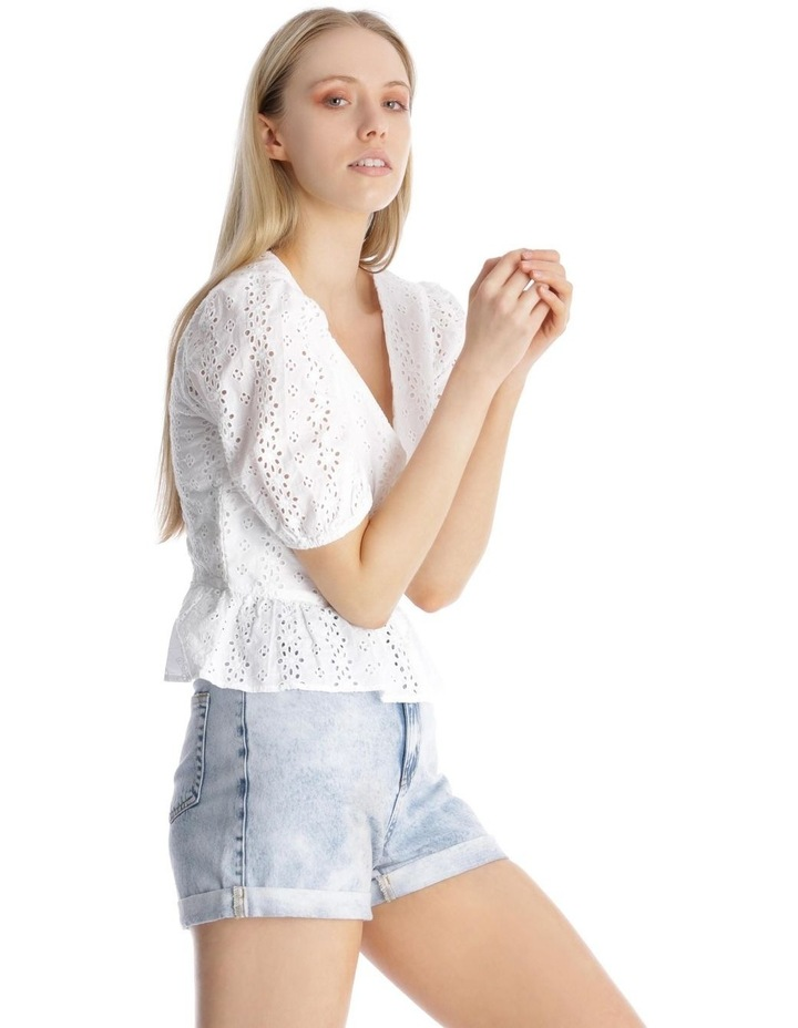 Broderie Puffy Sleeve Top image 2