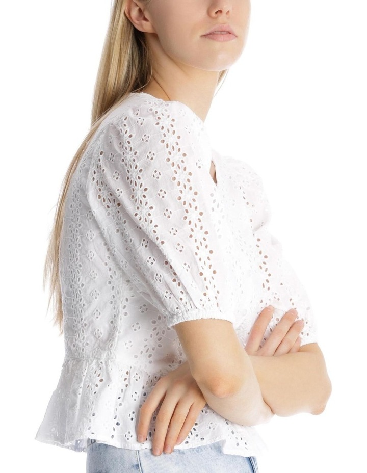 Broderie Puffy Sleeve Top image 4