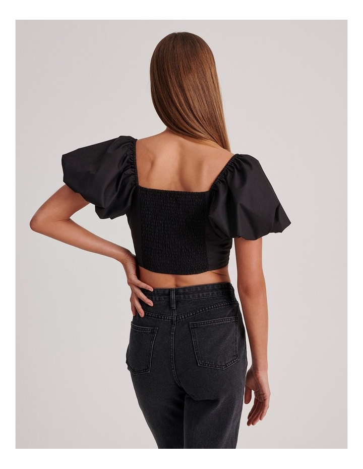 Cotton Puff Sleeve Top image 4