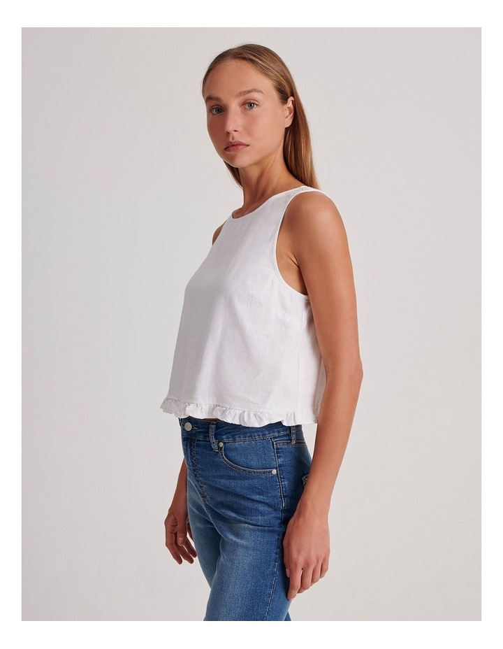 Sleeveless Shell Top With Ruffle Hem image 3