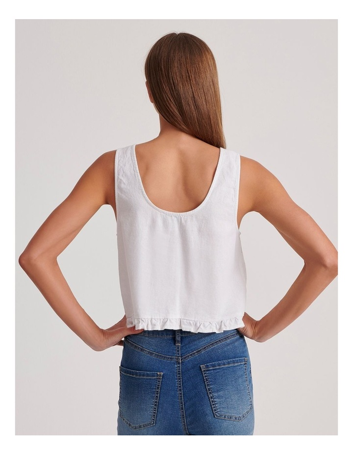 Sleeveless Shell Top With Ruffle Hem image 4