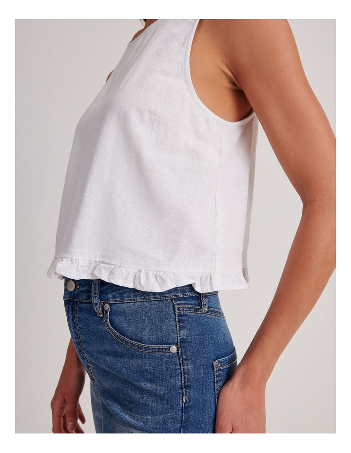 Sleeveless Shell Top With Ruffle Hem image 5