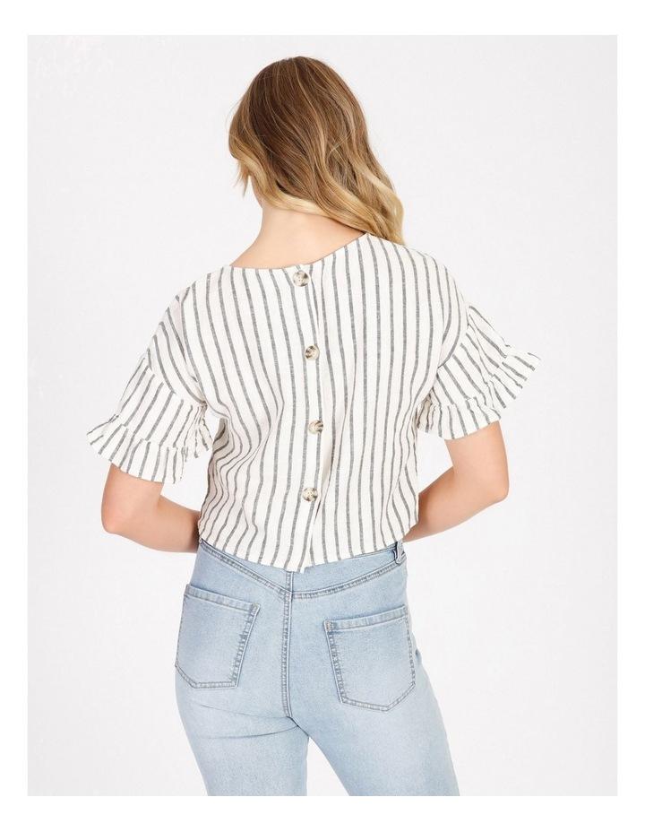 Ruffle Sleeve Linen Top image 2