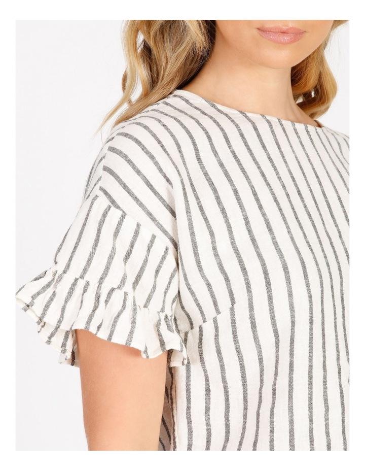 Ruffle Sleeve Linen Top image 4