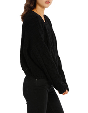 Miss Shop - cropped cable chenienlle jumper