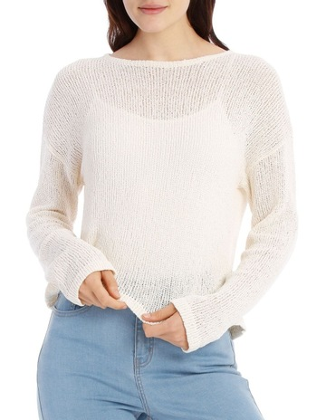 aaab58f7bb Miss ShopCrew Neck Cropped Light Weight Jumper