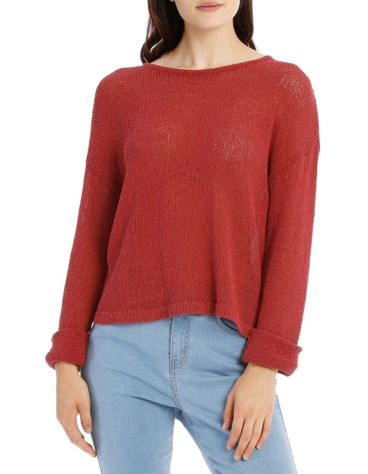 Crew Neck Cropped Light Weight Jumper image 1