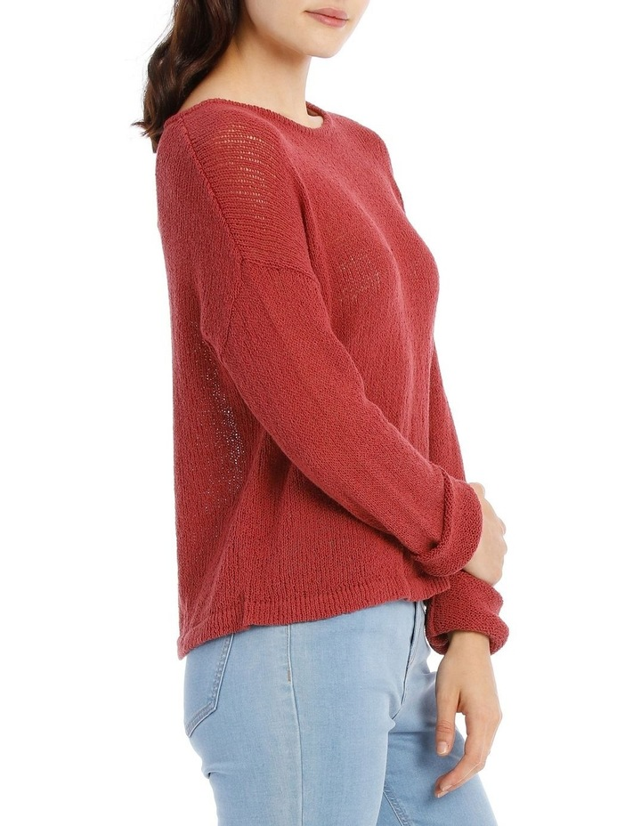 Crew Neck Cropped Light Weight Jumper image 2