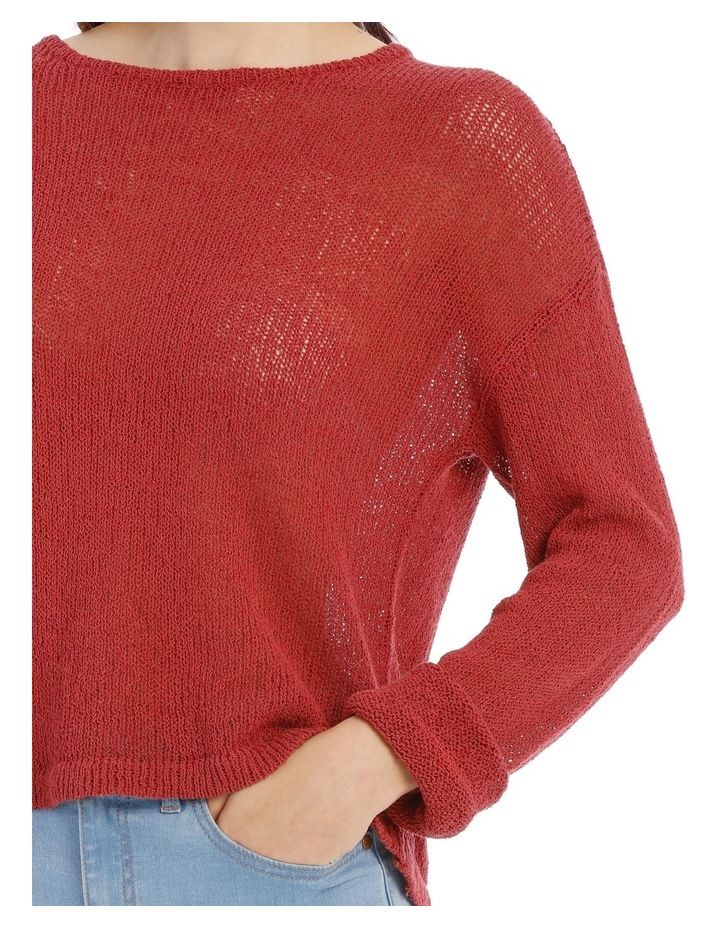 Crew Neck Cropped Light Weight Jumper image 4