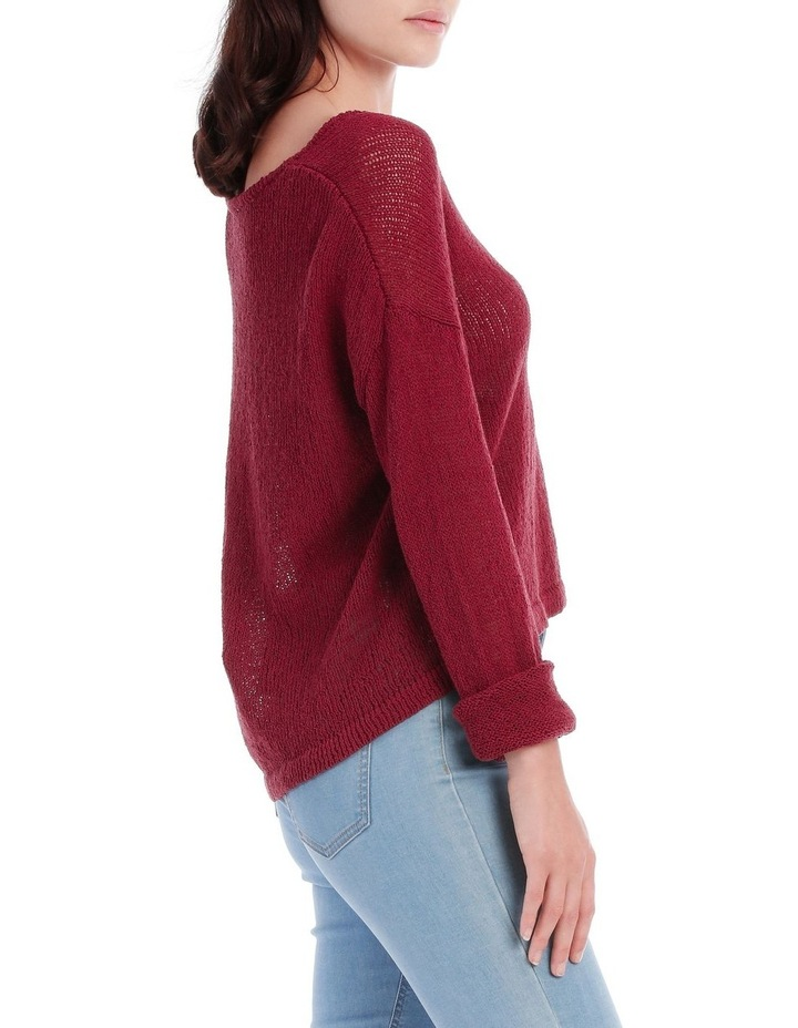 Vee Neck Cropped Light Weight Jumper image 2