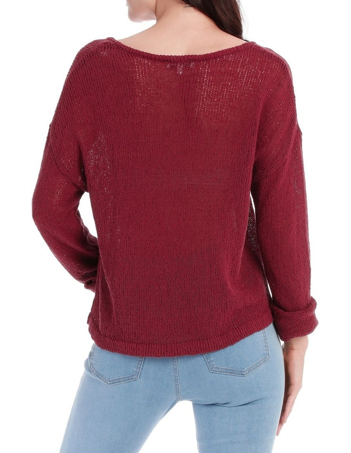 Vee Neck Cropped Light Weight Jumper image 3