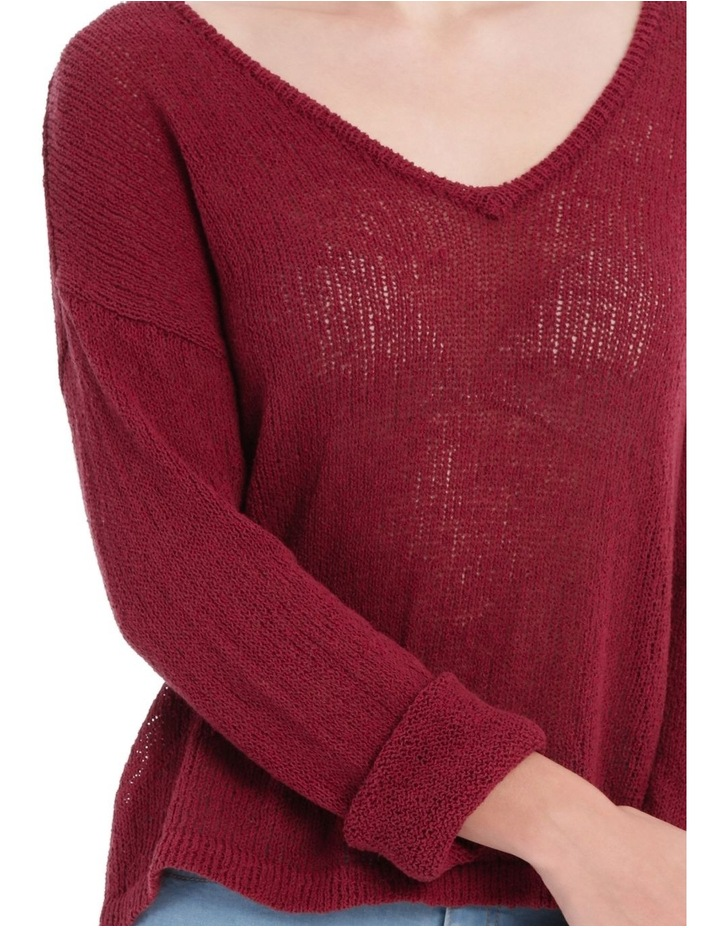 Vee Neck Cropped Light Weight Jumper image 4