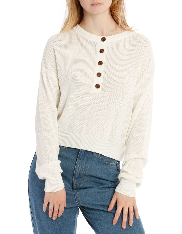Button Front Cropped Jumper image 1