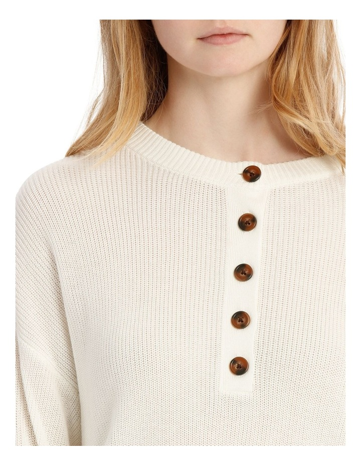 Button Front Cropped Jumper image 3