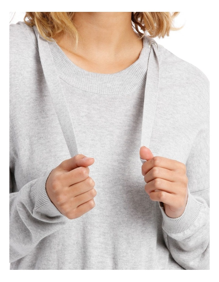 Cropped Hooded Knit Sweat Top image 4