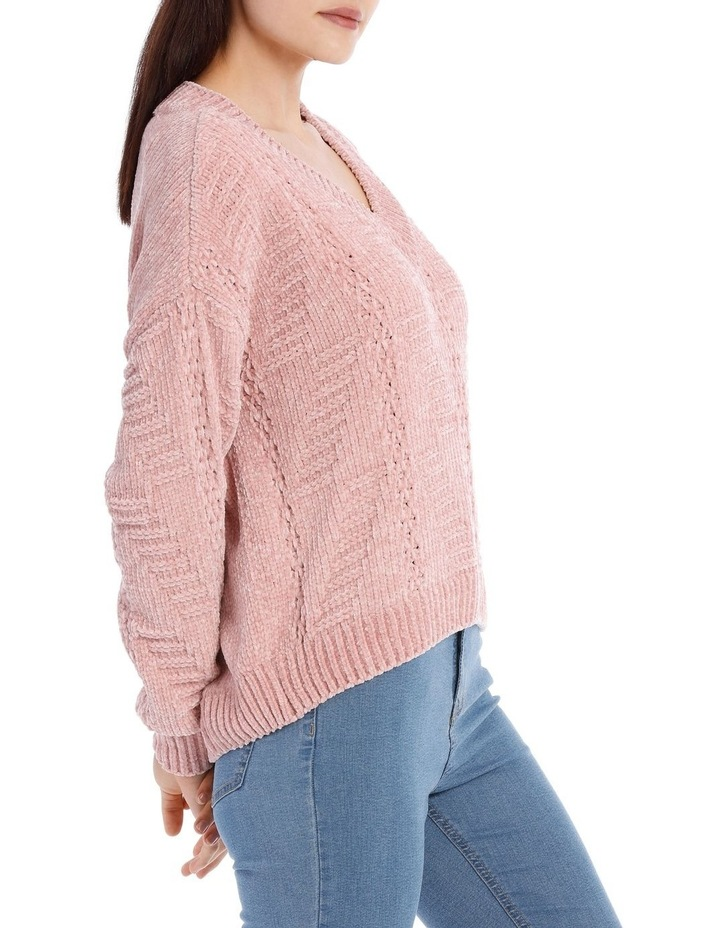 Vee Neck Relaxed Chenille Jumper image 2