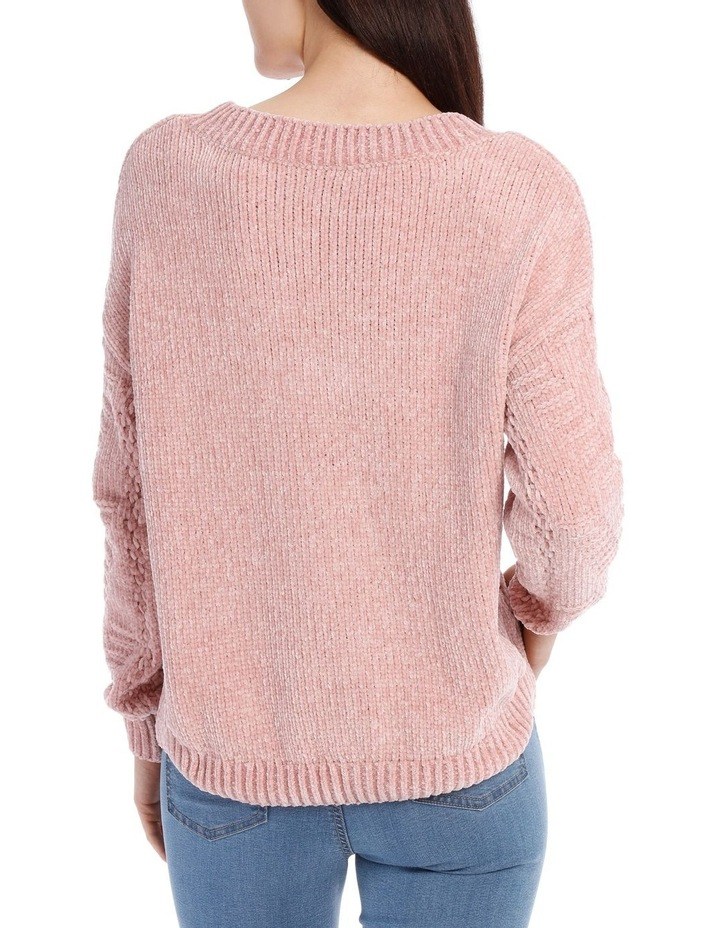Vee Neck Relaxed Chenille Jumper image 3
