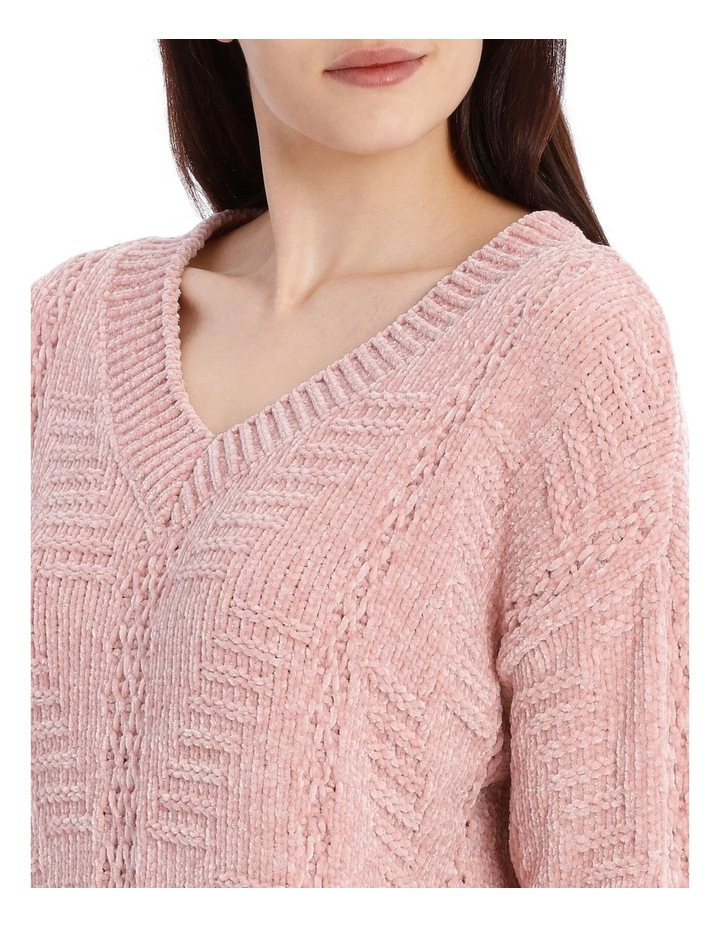 Vee Neck Relaxed Chenille Jumper image 4