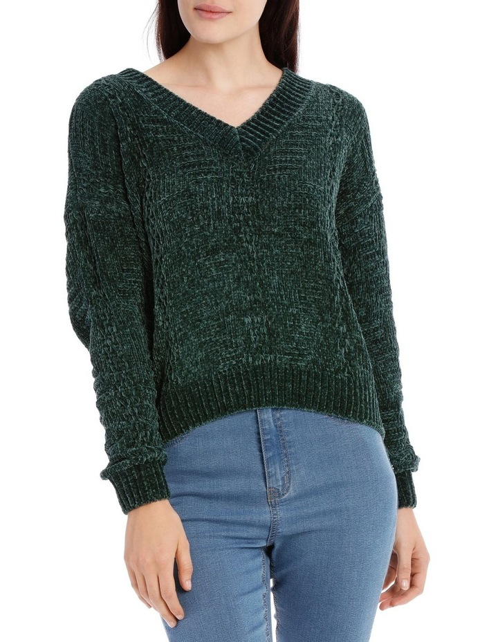 Vee Neck Relaxed Chenille Jumper image 1