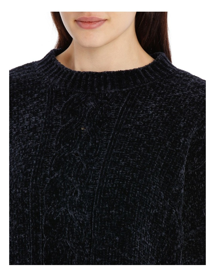 Crew Neck Cable Front Chenille Jumper image 4