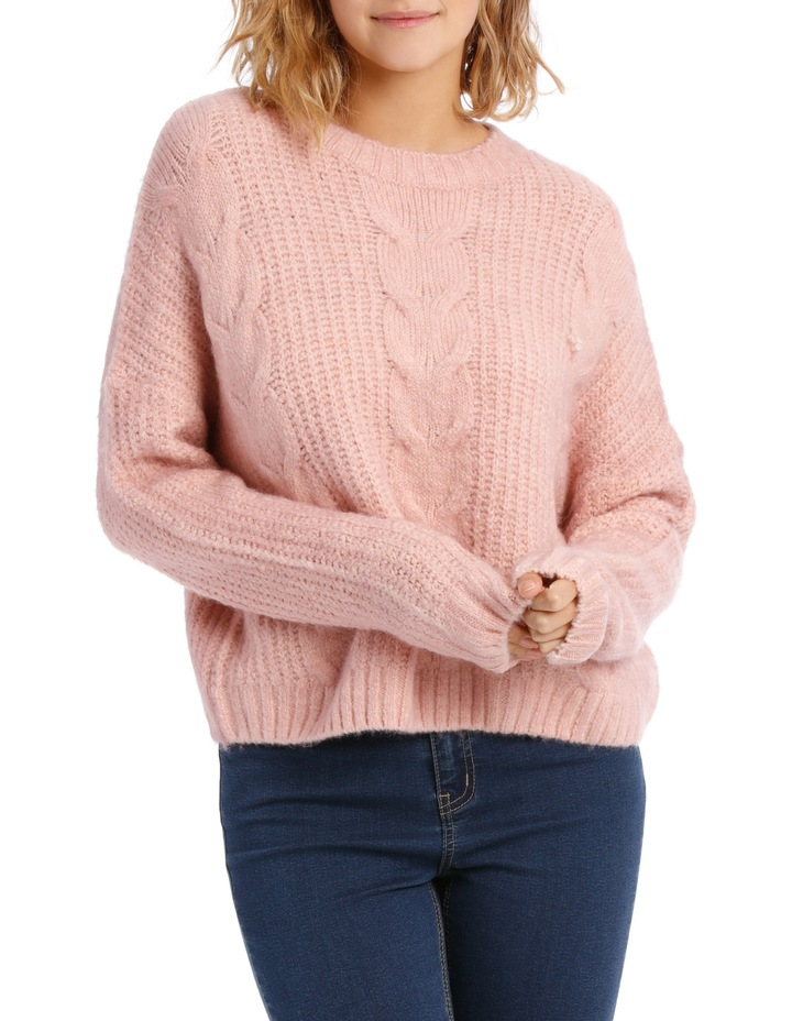 Cable Front Fuzzy Jumper image 1