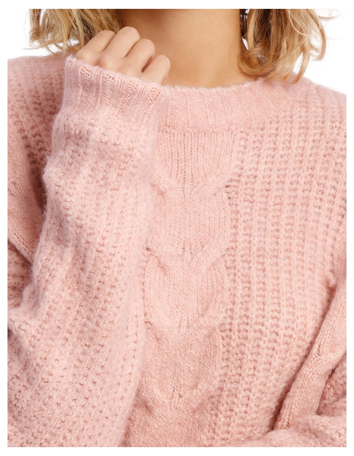 Cable Front Fuzzy Jumper image 4