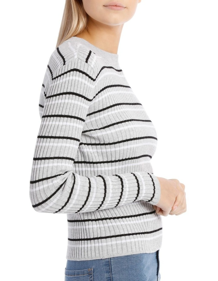 Fitted Stripe Roll Neck Jumper image 2