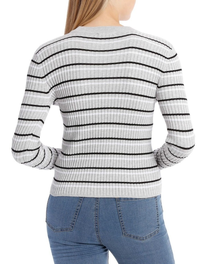 Fitted Stripe Roll Neck Jumper image 3