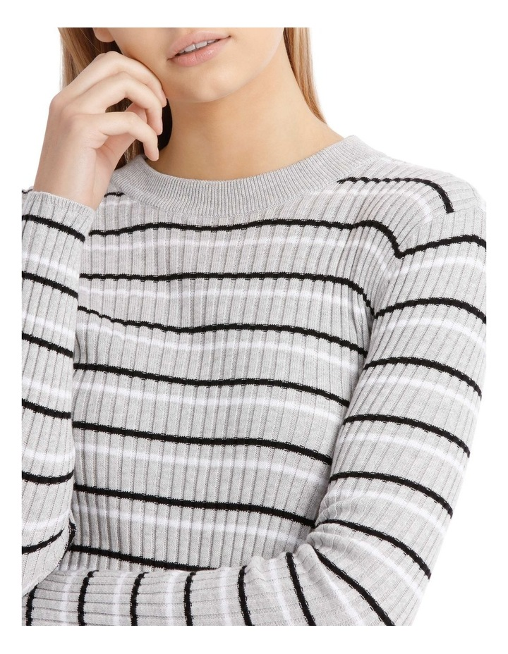 Fitted Stripe Roll Neck Jumper image 4