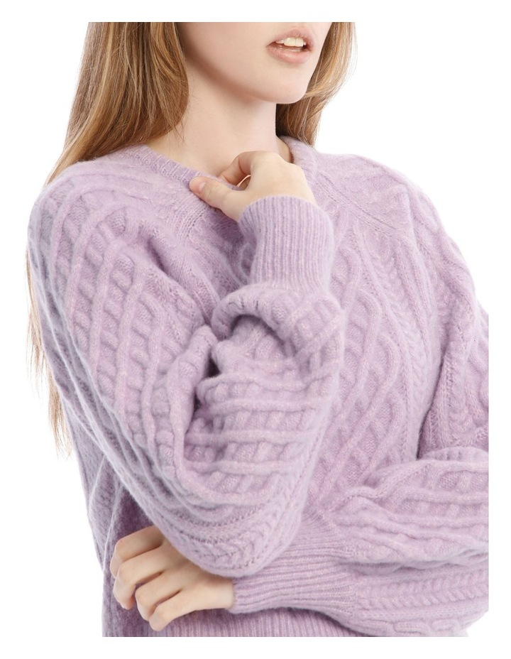 Cable Balloon Sleeve Knit image 4
