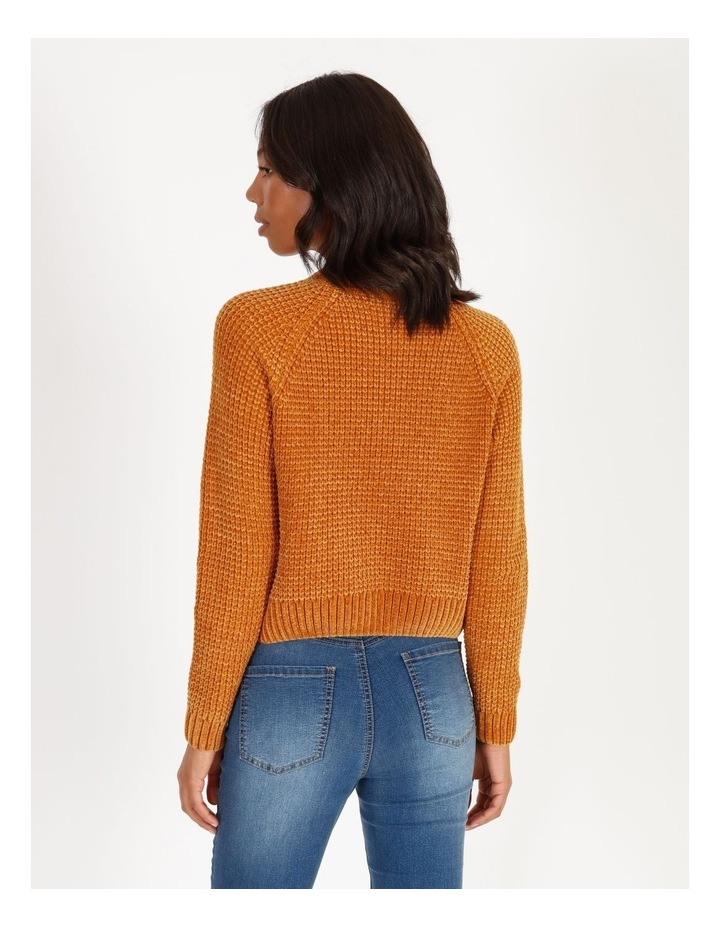 Chenille Raglan Honeycomb Sleeve Knit image 3