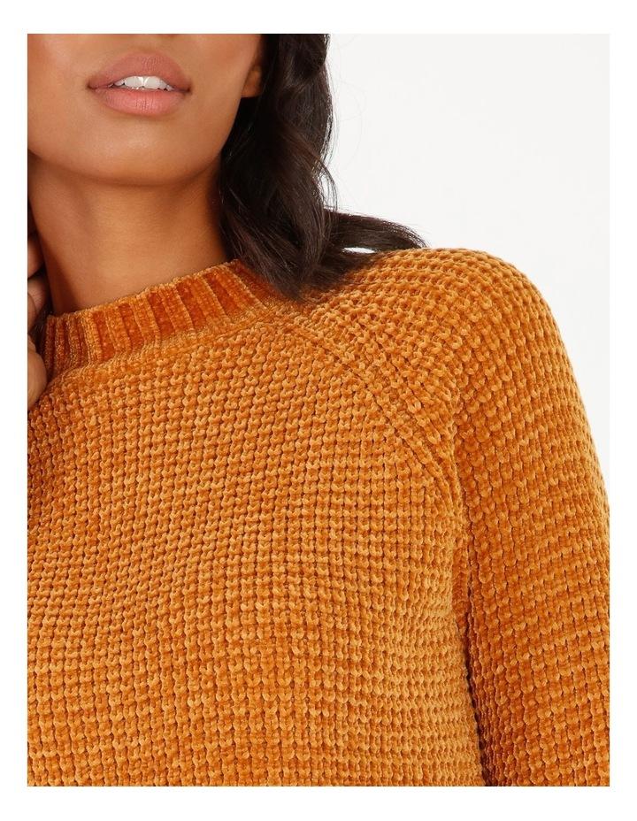 Chenille Raglan Honeycomb Sleeve Knit image 4