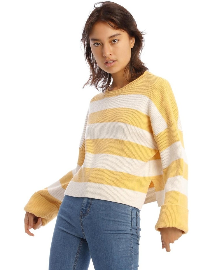 Striped Roll Cuff Jumper image 1