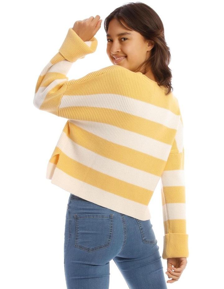 Striped Roll Cuff Jumper image 3