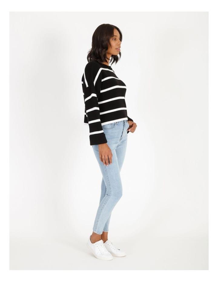 Stripe Roll Cuff Jumper image 2