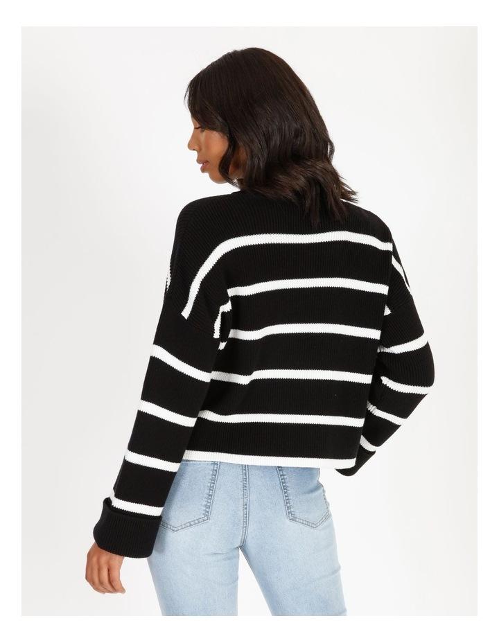 Stripe Roll Cuff Jumper image 3