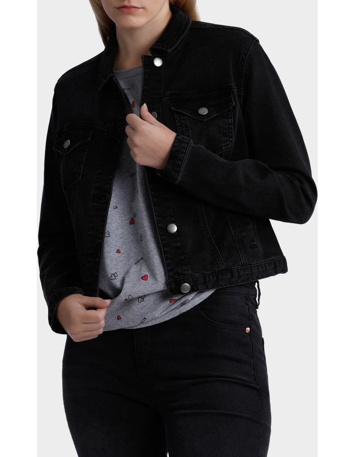 Washed Denim Jacket image 1