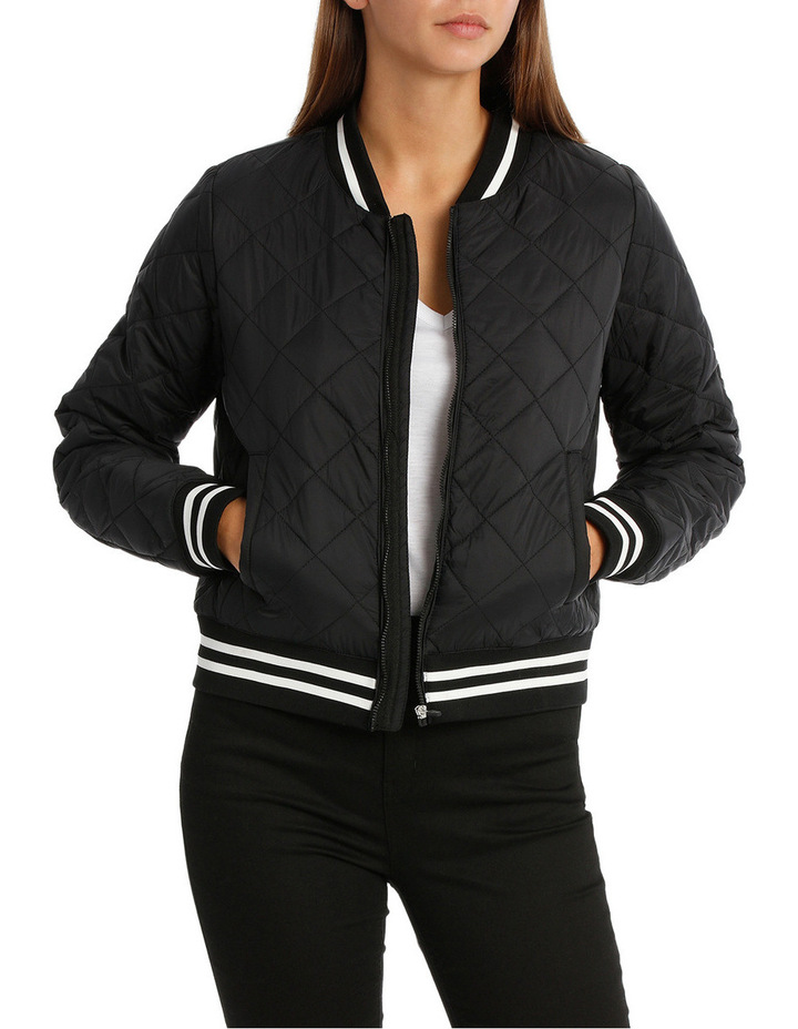 Quilted Tipping Puffa Bomber image 1