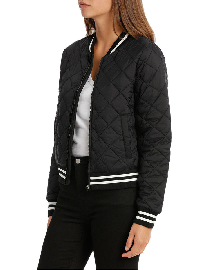 Quilted Tipping Puffa Bomber image 2