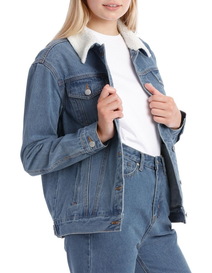Sherpa Collar Denim Jacket image 2