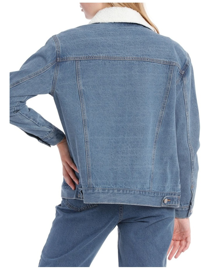 Sherpa Collar Denim Jacket image 3